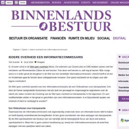 Screenshot van binnenlandsbestuur.nl