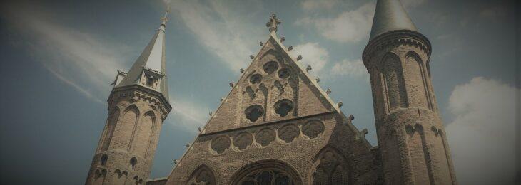 Foto van de torens van de Ridderzaal op het Binnenhof