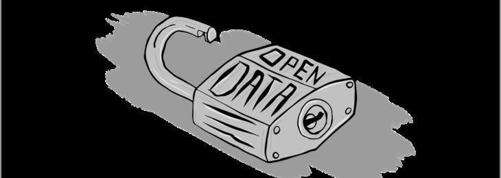 geopend slot met tekst open data erop